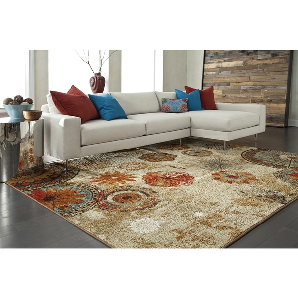 10 Square Strata Caravan Medallion Area Rug 10 Square