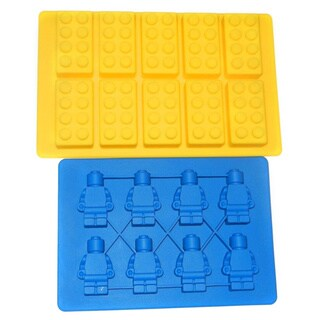 Building Bricks and Minifigure Ice Cube Tray or Candy Mold