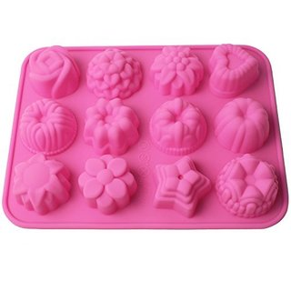 12-Cavity Non-stick Silicone Flower Baking Mold