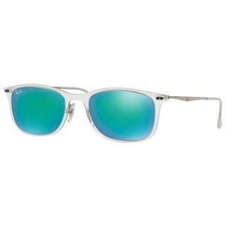 Ray-Ban RB4225 646/3R 52mm Green Mirror Lenses Transparent/Gunmetal Frame Sunglasses