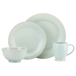 Lenox French Perle Groove Ice Blue 4-piece Place Setting set