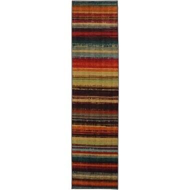 MOHAWK Home New Wave Boho Stripe Multi (2' x 5') (Runner)...