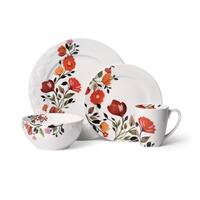 Gourmet Basics by Mikasa Tulips 16-Piece Dinnerware Set
