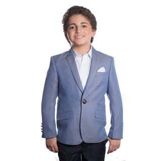Elie Balleh Boy's Milano Italy 2016 Style Slim Fit Jacket/Blazer in Blue