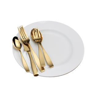 Mikasa Satin Loft Gold 20-Piece Flatware Set