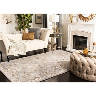 Safavieh Handmade Bella Light Grey/ Multi Wool Rug - 4' x 6'