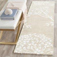 Safavieh Handmade Bella Sand/ Ivory Wool Rug (2' 3 x 7')
