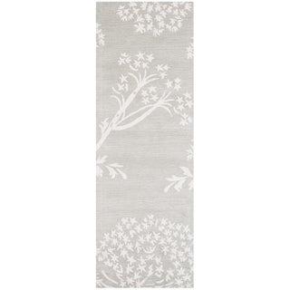 Safavieh Handmade Bella Grey/ Ivory Wool Rug (2' 3 x 7')
