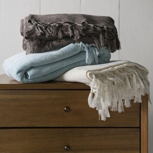 """Nailsea Plush Wool/Cotton Throw (40"""" x 60"""")"""