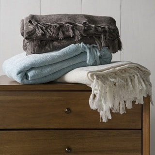 "Nailsea Plush Wool/Cotton Throw (40"" x 60"")"