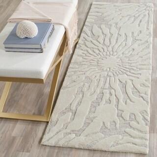 Safavieh Handmade Bella Silver/ Ivory Wool Rug (2' 3 x 7')