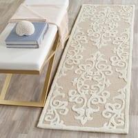 "Safavieh Handmade Bella Sand/ Ivory Wool Rug - 2'3"" x 9'"