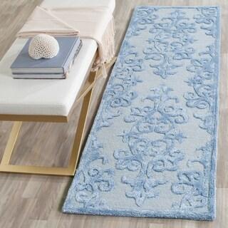 Safavieh Handmade Bella Blue Wool Rug (2' 3 x 9')