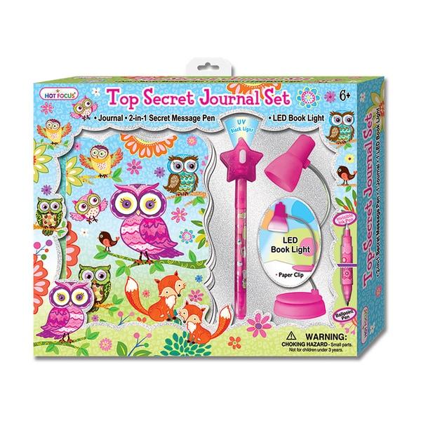 Hot Focus Owl and Fox Top Secret Journal Set
