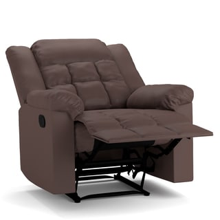 ProLounger Brown Renu Leather Flat Wing Wall Hugger Recliner