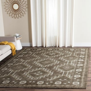 Safavieh Handmade Bella Brown/ Taupe Wool Rug (6' x 9')