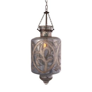 Badan Etched Glass Pendant Light