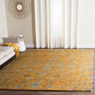 Safavieh Handmade Bella Gold/ Taupe Wool Rug (6' x 9')