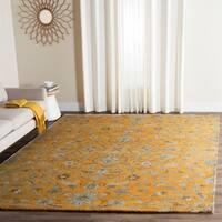 Safavieh Handmade Bella Gold/ Taupe Wool Rug - 6' x 9'