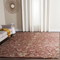 Safavieh Handmade Bella Rose/ Taupe Wool Rug - 6' x 9'