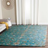 Safavieh Handmade Bella Blue/ Taupe Wool Rug - 6' x 9'