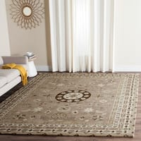 Safavieh Handmade Bella Taupe/ Light Grey Wool Rug - 6' x 9'
