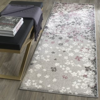 Safavieh Adirondack Light Grey/ Purple Rug (2' 6 x 12')