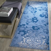 Safavieh Adirondack Vintage Damask Light Blue/ Dark Blue Runner - 2'6 x 12'