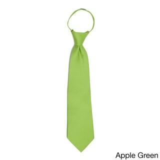 Jacob Alexander Toddler's Solid Color Pretied 11-inch Zipper Tie