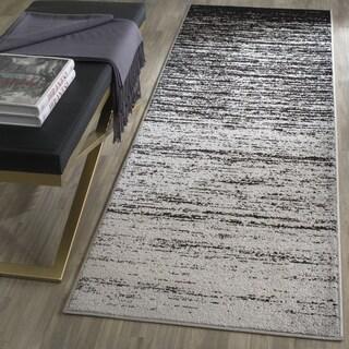 Safavieh Adirondack Modern Abstract Silver/ Black Runner Rug (2' 6 x 14')