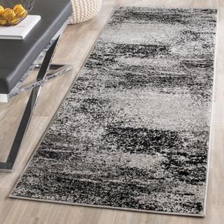 Safavieh Adirondack Modern Abstract Silver/ Multicolored Runner Rug (2' 6 x 18')