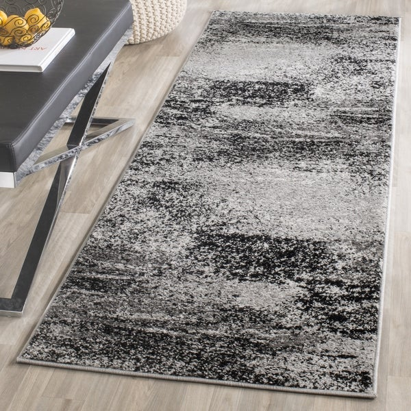 Safavieh Adirondack Modern Abstract Silver/ Multicolored Runner Rug (2'6 x 16')
