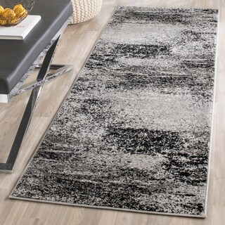 "Safavieh Adirondack Modern Abstract Silver/ Multicolored Runner Rug - 2'6"" x 14'"