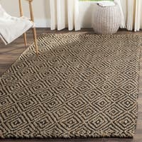 Safavieh Casual Natural Fiber Hand-Woven Natural / Black Jute Rug - 6' x 9'