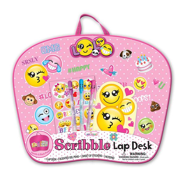 Hot Focus Emoji Scribble Lap Desk