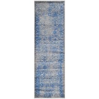 Safavieh Adirondack Grey/ Blue Rug (2' 6 x 18')