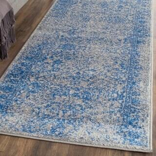 Safavieh Adirondack Vintage Distressed Grey / Blue Runner Rug (2'6 x 16')