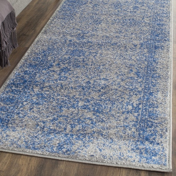 Safavieh Adirondack Vintage Distressed Grey / Blue Runner Rug (2'6 x 12')