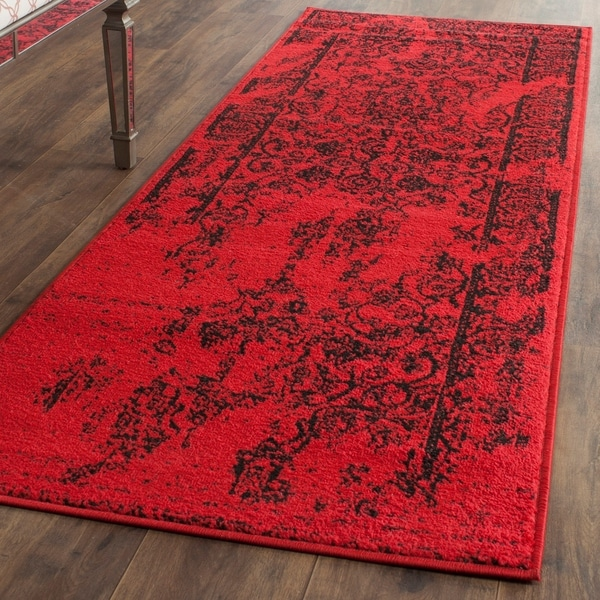 Safavieh Adirondack Vintage Overdyed Red/ Black Runner Rug - 2'6 x 20'