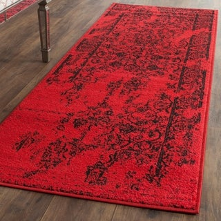 Safavieh Adirondack Vintage Overdyed Red/ Black Runner Rug (2'6 x 16')