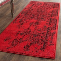 Safavieh Adirondack Vintage Overdyed Red/ Black Runner Rug - 2'6 x 14'