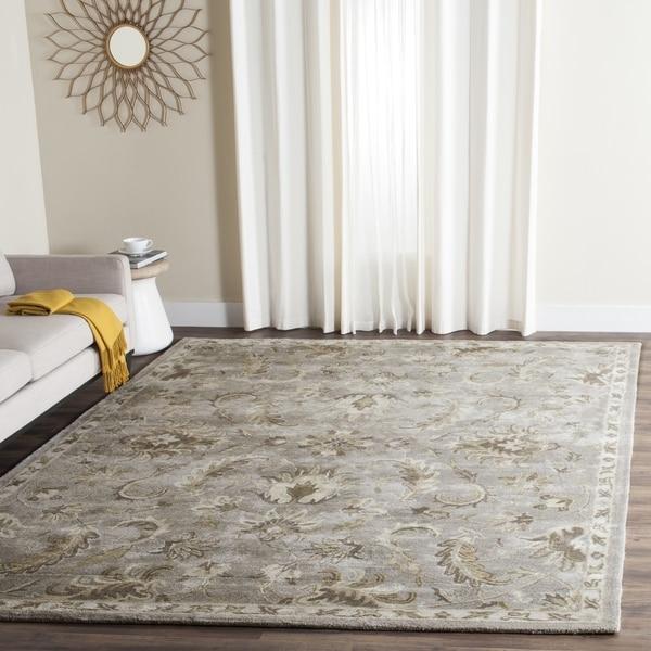 Safavieh Handmade Bella Light Grey/ Multi Wool Rug - 8' x 10'