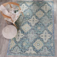 Safavieh Evoke Vintage Light Blue/ Ivory Distressed Rug (8' x 10')