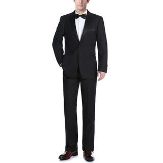 Verno Men's Classic Fit Black Two-piece Ribbon Finish Tuxedo|https://ak1.ostkcdn.com/images/products/11736789/P18654830.jpg?impolicy=medium