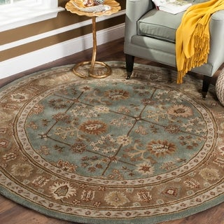 Safavieh Hand-hooked Total Perform Green/ Ivory Acrylic Rug (2' x 3')