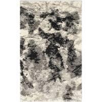 Safavieh Retro Modern Abstract Cream/ Grey Distressed Rug - 2'6 x 4'