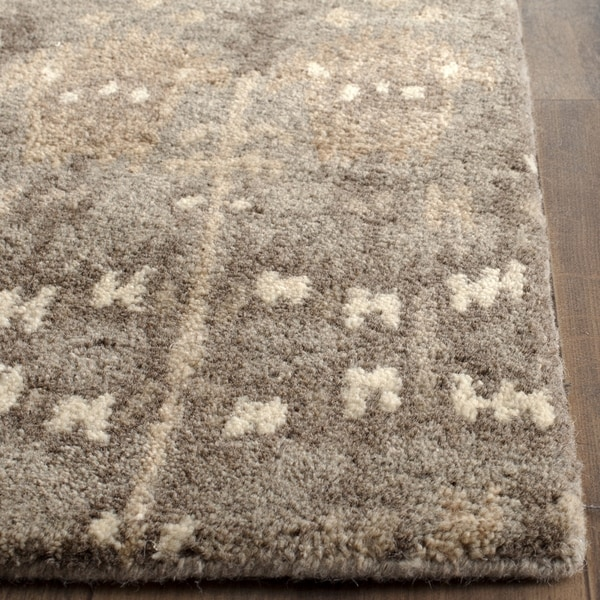 Safavieh Handmade Wyndham Natural/ Multi Wool Rug - 2' 3 x 13'