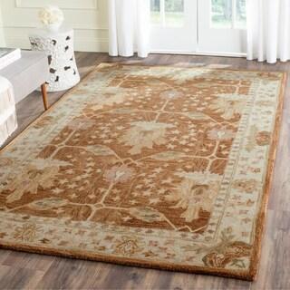 Safavieh Handmade Antiquity Brown/ Beige Wool Rug (5' x 8')
