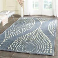 Safavieh Handmade Bella Blue/ Ivory Wool Rug - 5' x 8'
