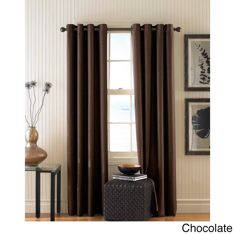 CHF Monterey Textured Lined Grommet Curtain Panel (Chocol...